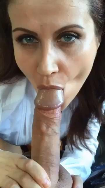 Horny wife sucking hard dick