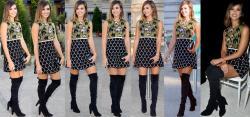 Jessica Alba Minifalda Con Botas Altas